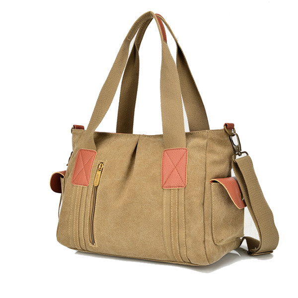 Women Canvas Tote Handbags Casual Shoulder Bags Capacity Shopping Crossbody Bags