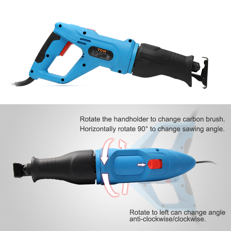 220V Electric Reciprocating Saw Household Multi-function Portable Wood Metal Plastic Pruning Tool