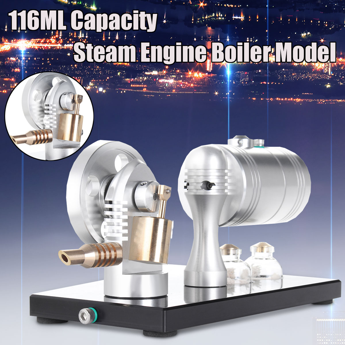 116ML Hot Air Stirling Engine Model Generator Motor Educational Steam Power Toy