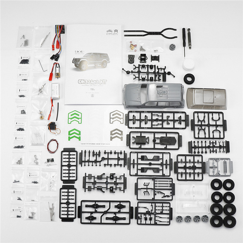Orlandoo-Hunter 1/32 DIY Assembly RC Car Kit ock Crawler OH32A02 With Electronic Parts