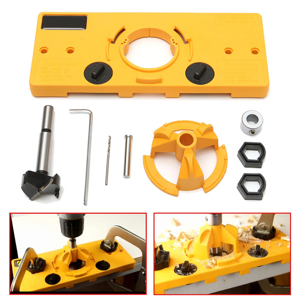 35mm Cup Style Hinge Jig Drill Guide Cabinet Door Installation Hole Locator