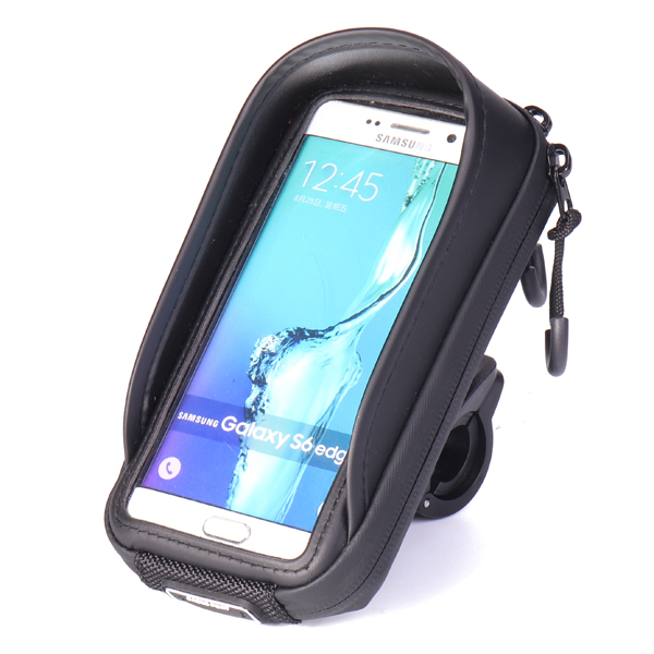 Outdoor Rainproof Bicycle Front Frame Tube Handlebar Bag Riding Bag for Cell Phone Below 5.5 Inch