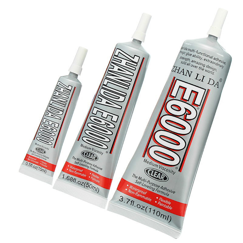 E6000 Self Leveling Glue Clear Acrylic Adhesive Resin Clear DIY Crafts Jewelry Shoes Crystal Glass