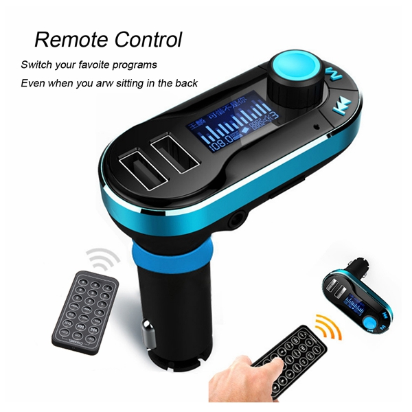 bluetooth Car FM Transmitter MP3 Player Dual USB Charger Handsfree Vehicle Kit