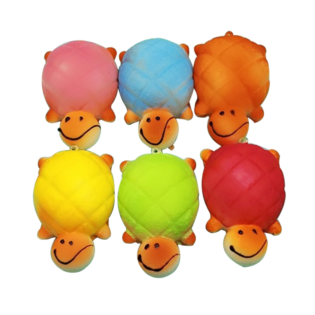 1PCS 10X13CM Random Kawaii Turtle Shape Squishy Toy Cell Phone Chain