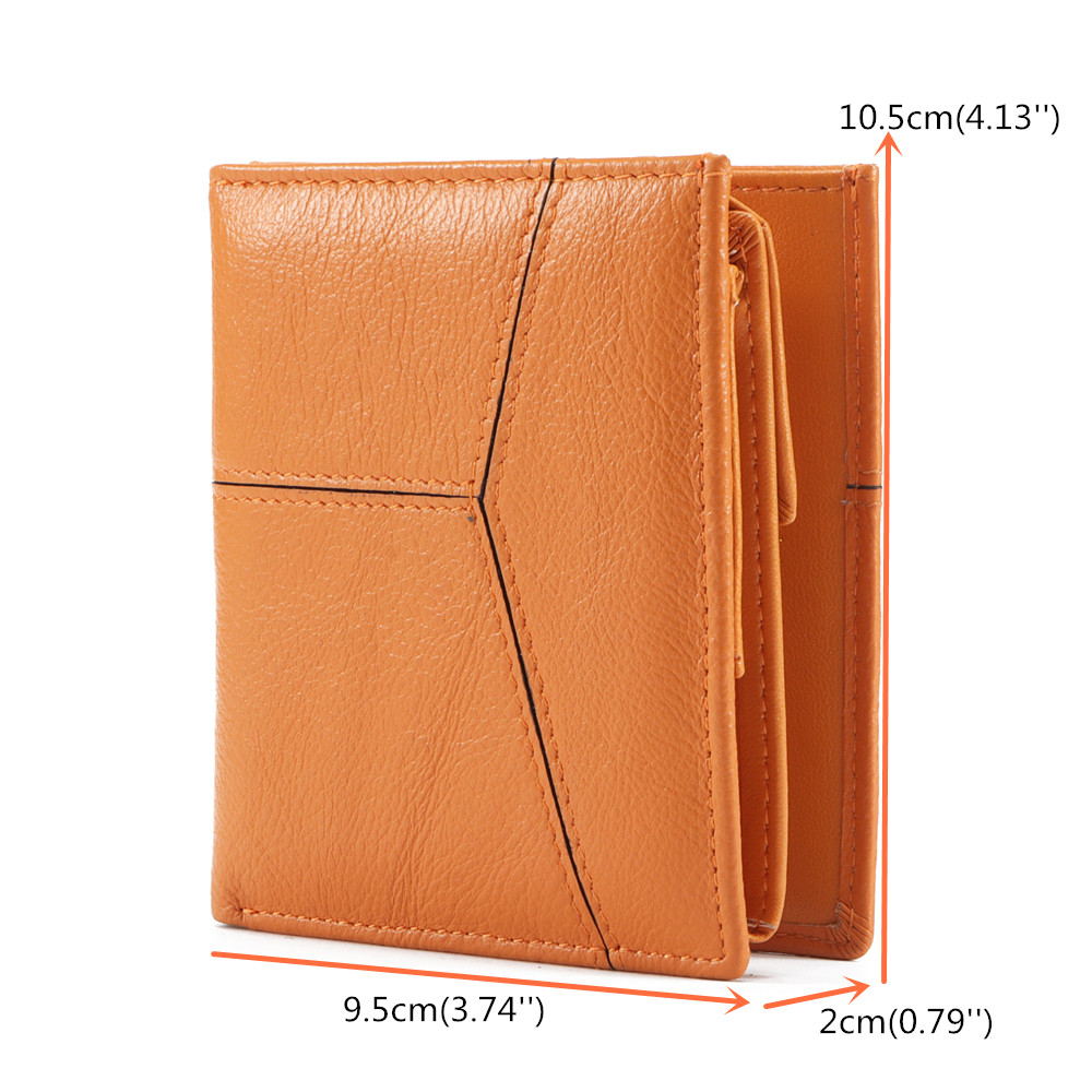 Brenice Women RFID Genuine Leather Short Purse Coin Bag