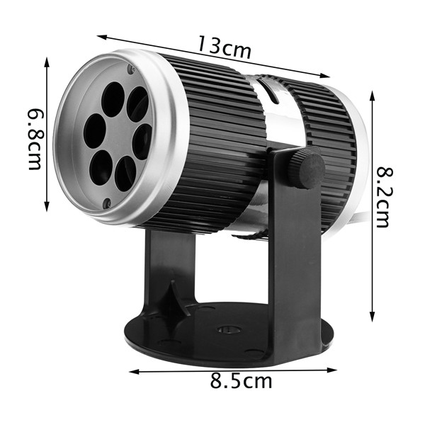 4W RGB LED Projector Stage Light for Halloween Christmas Party Decor with 4 Gobo Cards EU US Plug