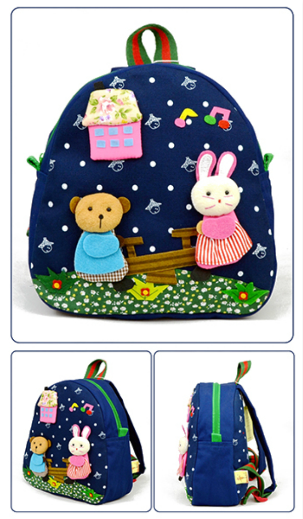 Children Kids Canvas Backpack Cute Cartoon Doll Toy School Bags Kindergarten Schoolbag