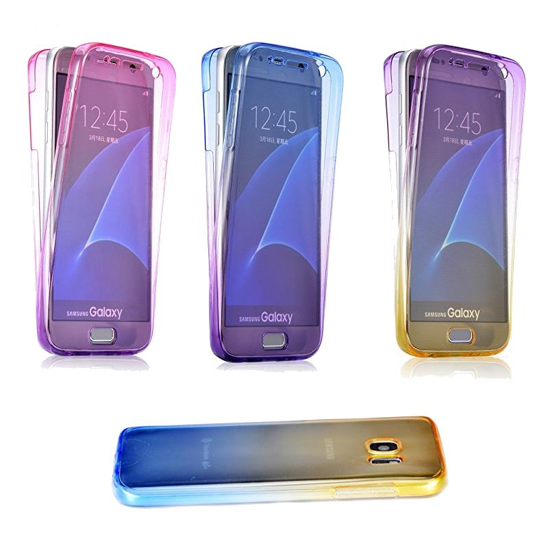 Gradient Color 360° Full Protective TPU Case for Samsung Galaxy S6
