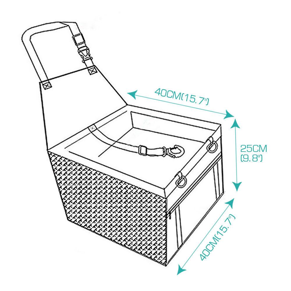 Hammock Cage Car Copilot Seat Pet Mat Bag Travel Seat Dog Protector Carrier Cushion Pad Waterproof