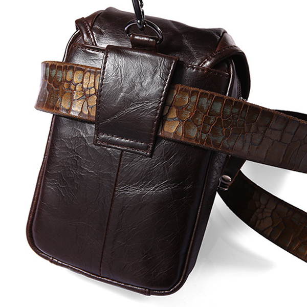 Multifunction Small Fashion Waist Bag Men Leather Belt Phone Bag Single Shoulder bag Crossbody Bag