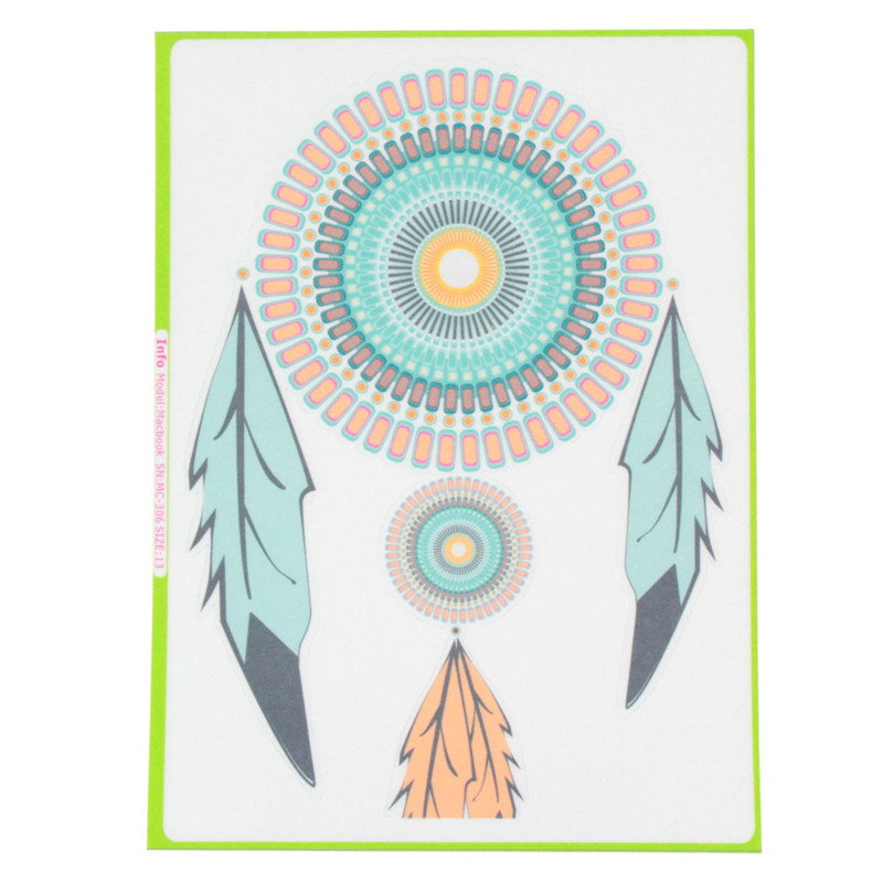 Indian's Feather Vinyl Sticker Skin Decal Cover Laptop Skin For Apple Macbook Air Pro
