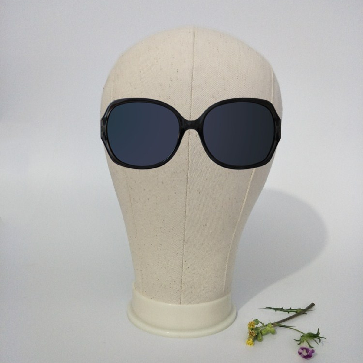 20-25'' Canvas Block Head Set with Mount Hole Plate Mannequin Model Cap Wigs Jewelry Display Stand