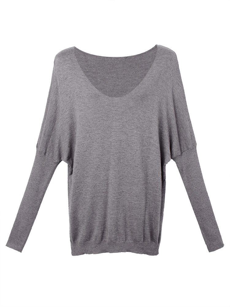 Women Batwing Sleeve Knit T-shirt