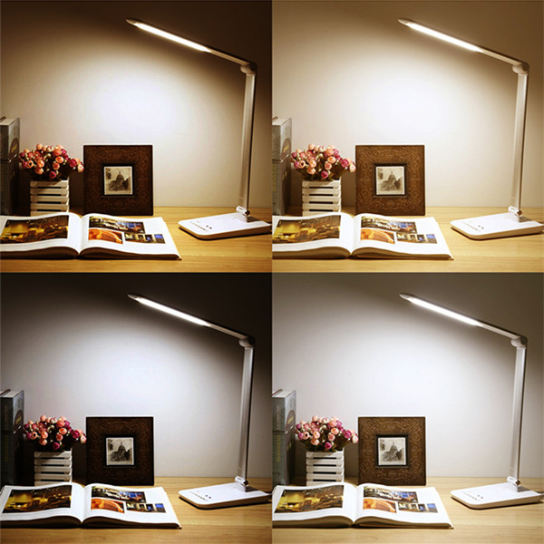 10W Foldable Touch Dimmable LED Table Light Rechargeable Eye Protection Reading Desk Lamp