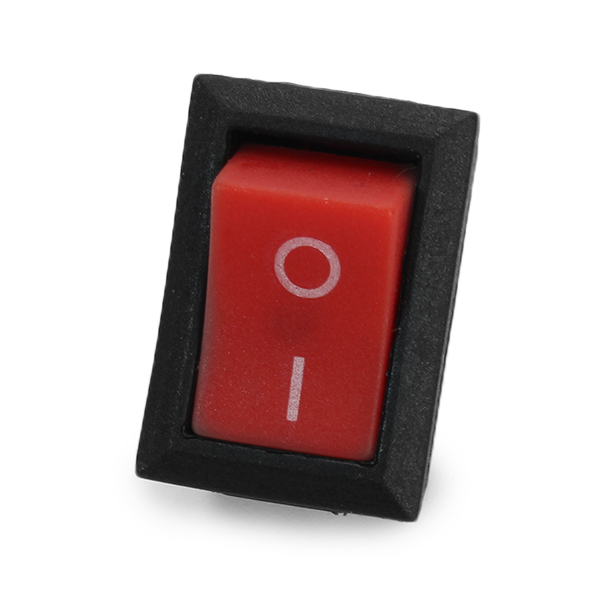 Wendao KCD-101 250V 6A Steel Boat Rocker Switch 2-Pin Plastic Button ON/Off SPST 10pcs