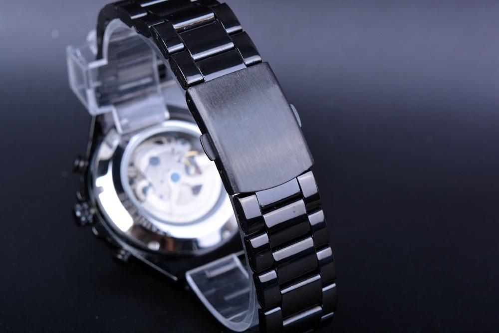125 Roman Dials Black Case Automatic Mechanical Watch