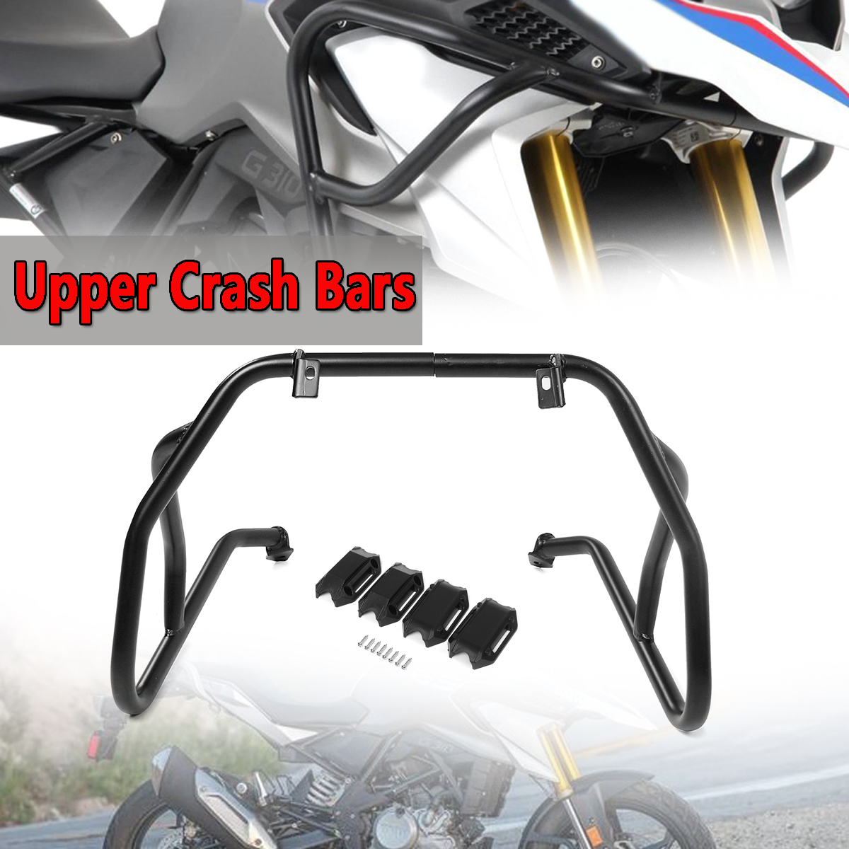 Motorcycle Black Front Upper Engine Guard Crash Bar Tank Guard Protector For BMW G310GS