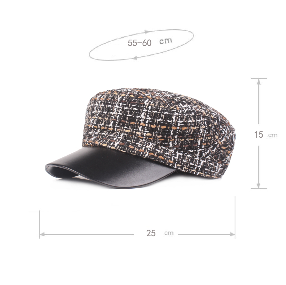 Winter Woolen Blending Beret Caps Warm Peaked Cap