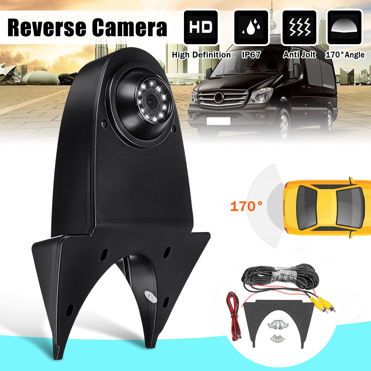 170° Auto Reverse Backup Car Rear View Camera For Mercedes Sprinter Nissan Navara