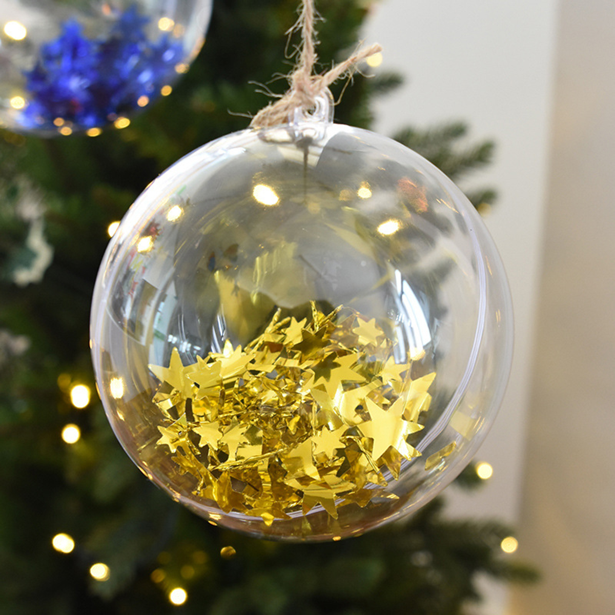 DIY Clear Plastic Bath Bomb Mold with Christmas Ball Decorations 4/5/6/7/8m