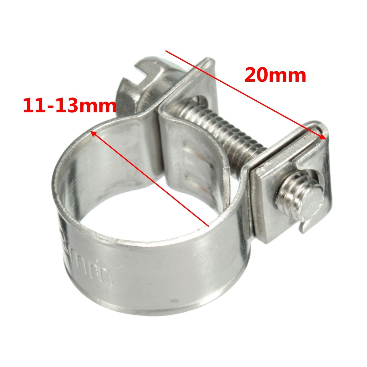 6mm-13mm Stainless Steel Mini Hose Clip Clamp for Fuel Line Pipe Petrol Pipe