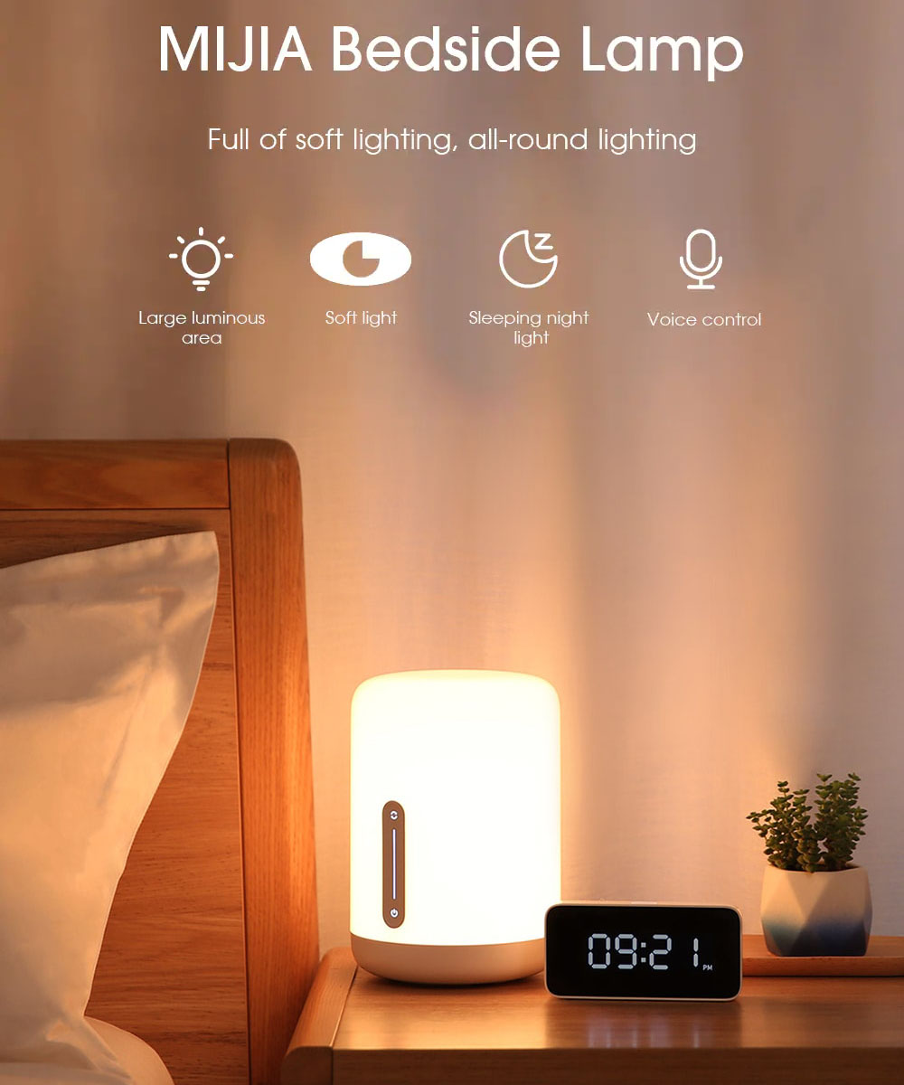 Xiaomi Mijia MJCTD02YL Colorful Bedside Light 2 bluetooth WiFi Touch APP Control Apple HomeKit Siri