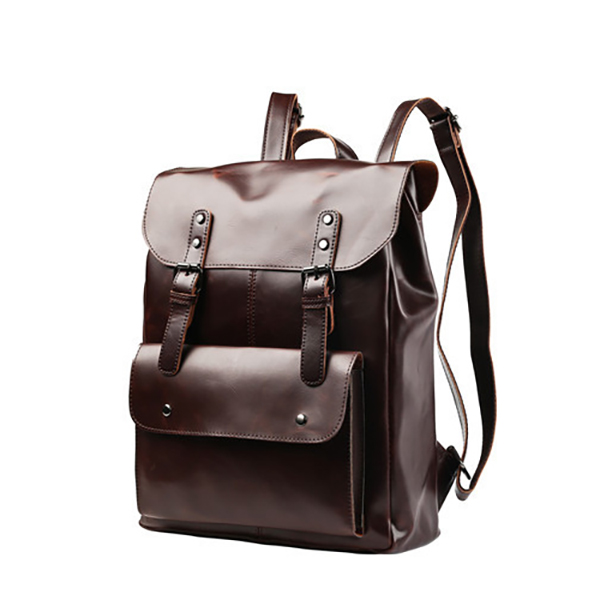 Men And Women Retro Leather Large Capacity Backpack