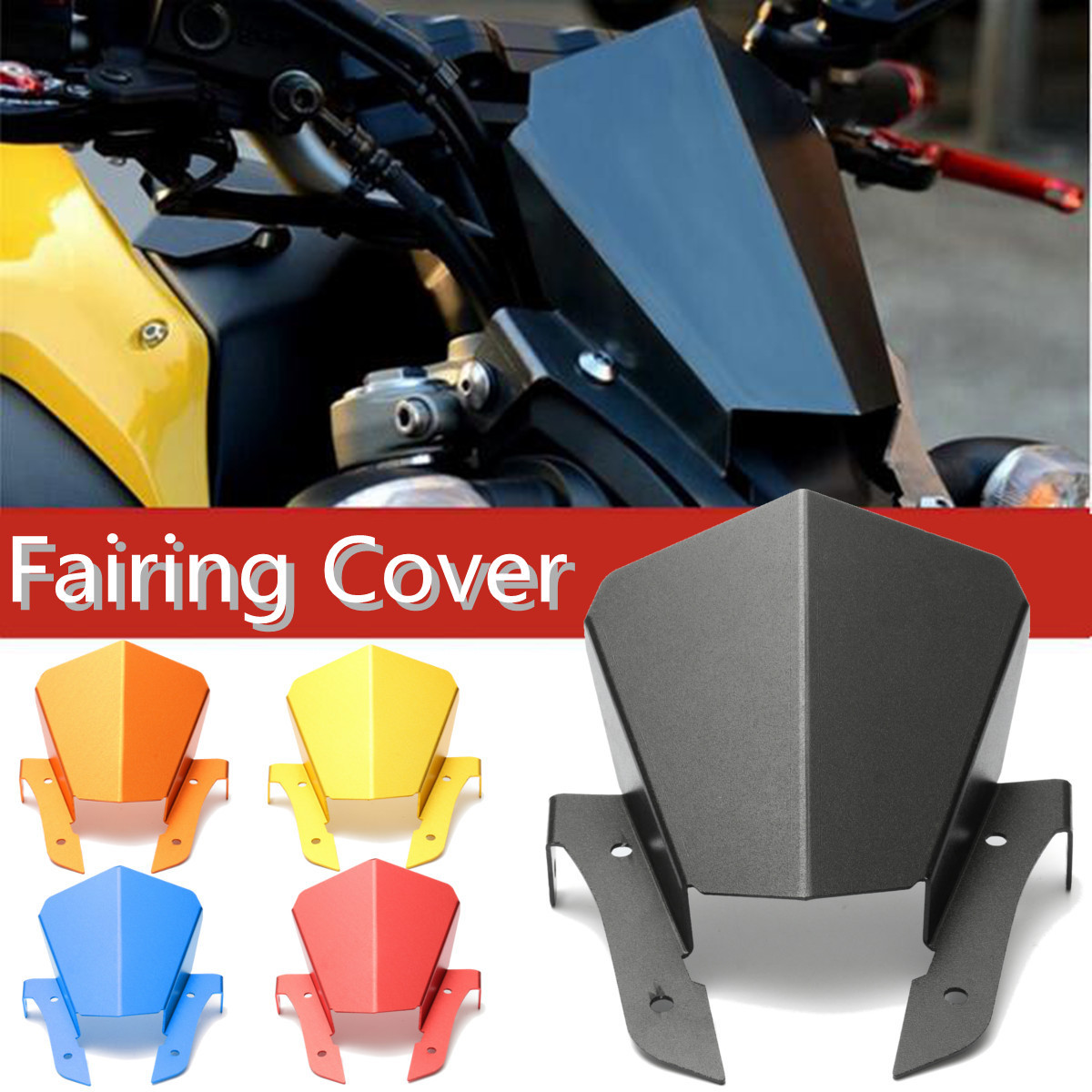 Front Upper Headlight Panel Fairing Mount Cover For Yamaha MT-07 FZ-07 14-16