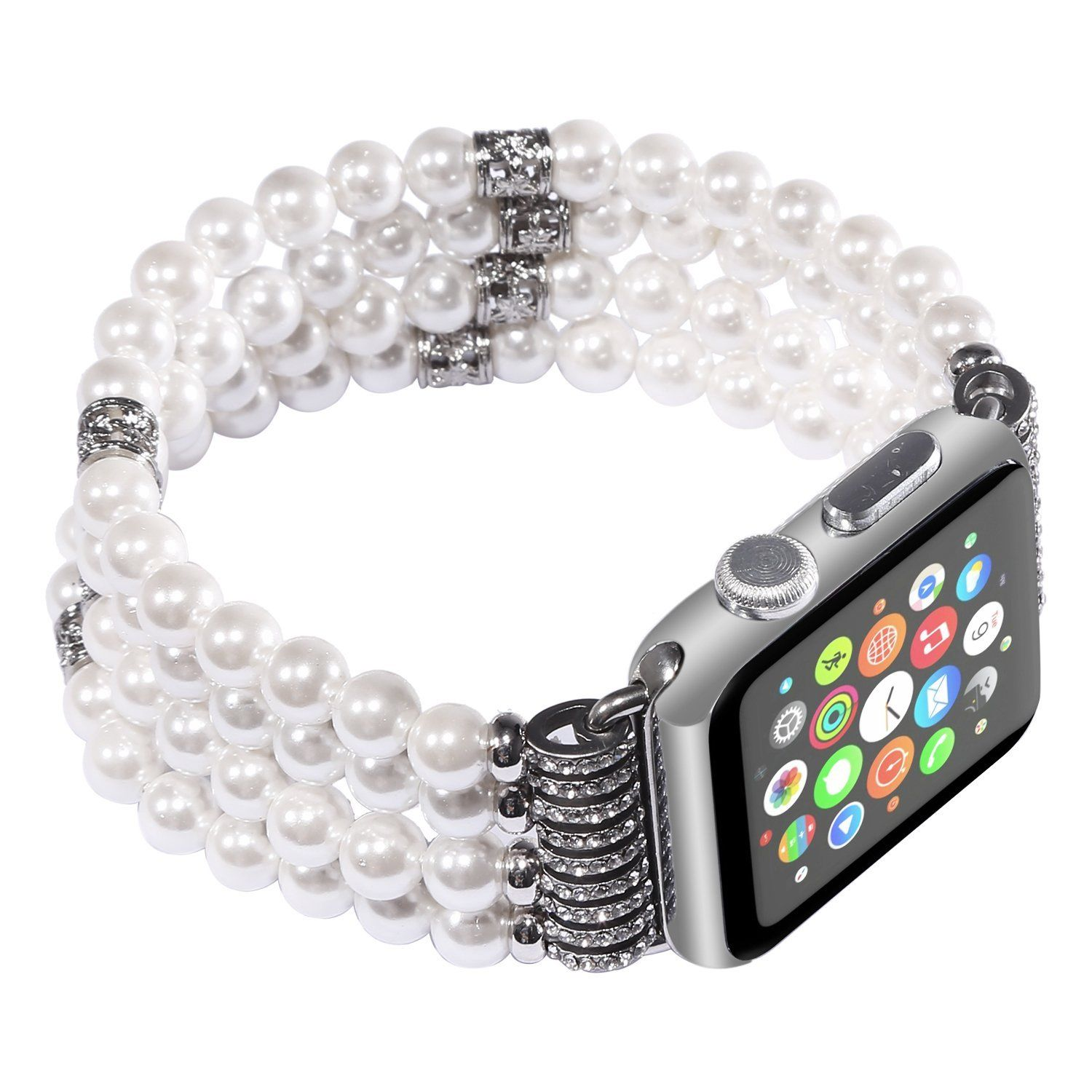 Pearl Beads Bracelet Watch Band Strap for Apple Watch iWatch Series 1 2 38/42mm