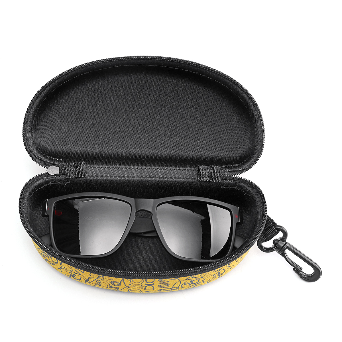 KDEAM Cloth Oval Sunglasses Box Hard Glasses Box Eyewear Protector Case