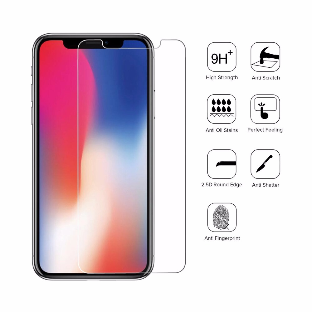 0.26mm 2.5D Anti Scratch Tempered Glass Film Screen Protector for iPhone XS/X