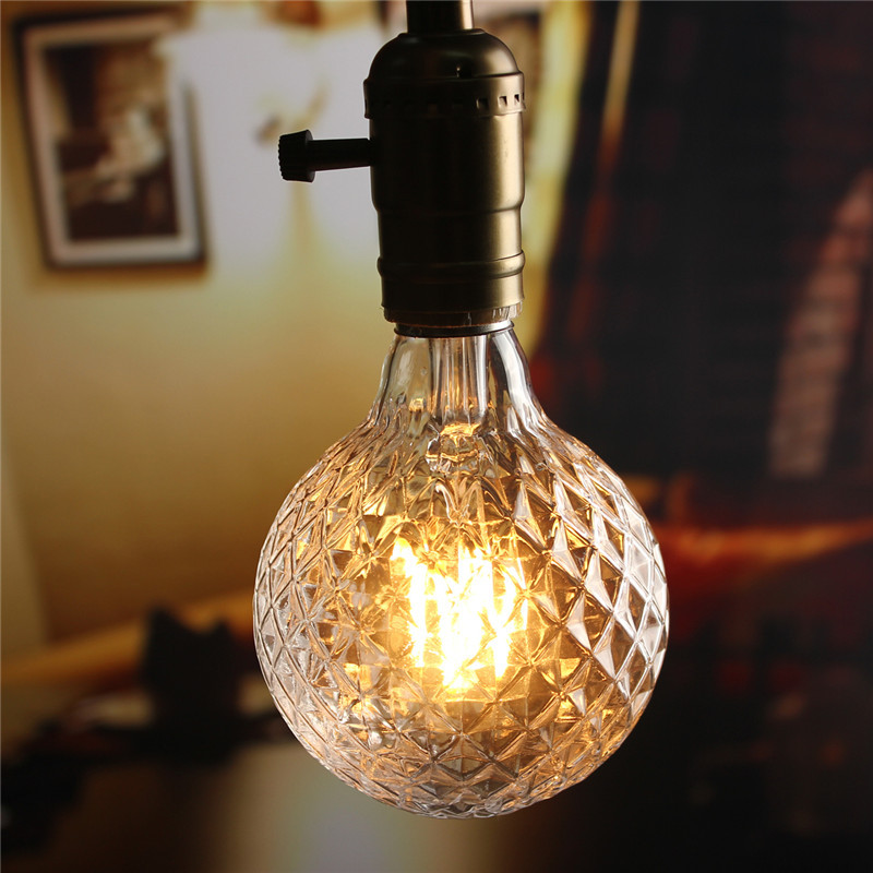 e27 4w pineapple vintage antique edison filament cob led. Black Bedroom Furniture Sets. Home Design Ideas