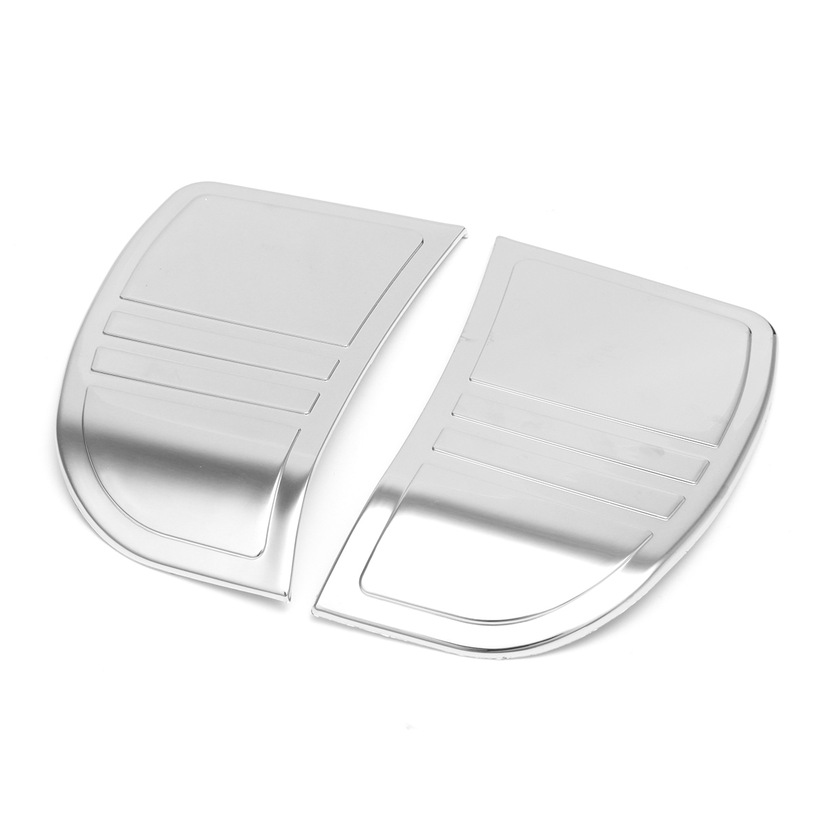 Pair Tri Line Stereo Trim Cover For Touring Electra GLIDE Street Plastic 14-16