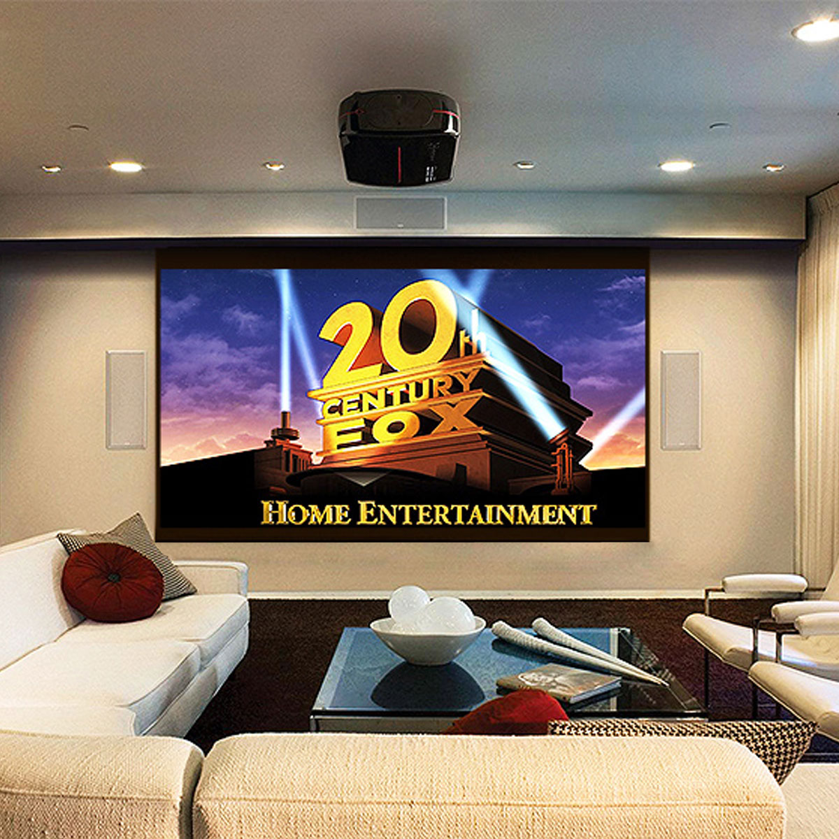 180 Inch 16:9 Portable Fibre Projector Screen Home Theater Office Work Outdoor Movie Projection