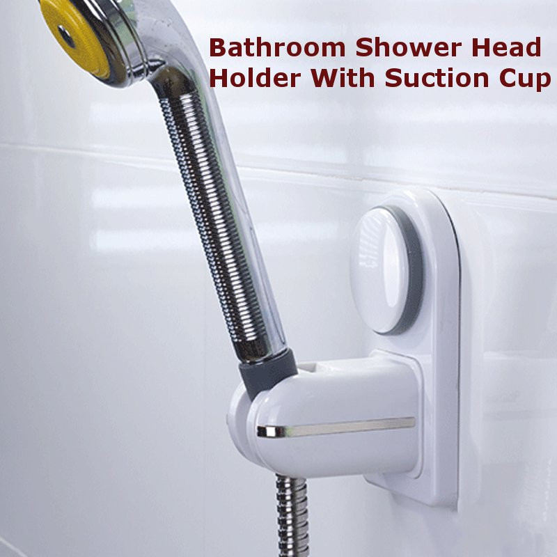 Bathroom Shower Head Holder with Suction cup Adjustable Faucet Holder Wall Mounted Shower Head hook Seat Hand Shower Head Holder