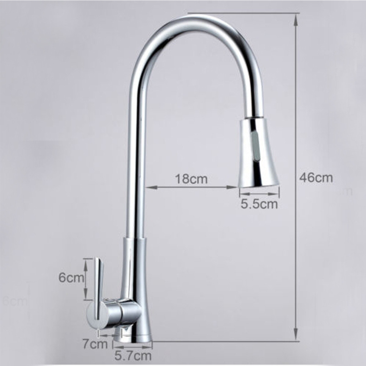 Flexible Chrome Brass Pull Out Kitchen Sink Single Lever Faucet Mixer Bath Basin Sink Faucet