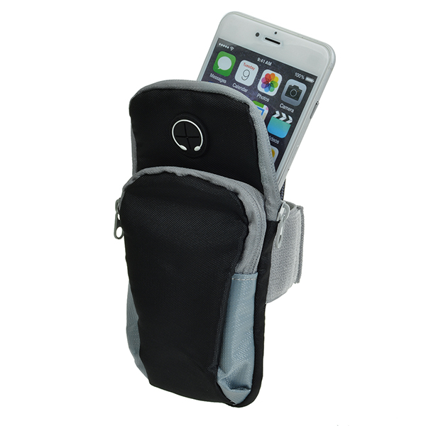 Outdoor Waterproof Neoprene Sports Running Arm Band Holder Pouch Case With Earphone Jack For iPhone