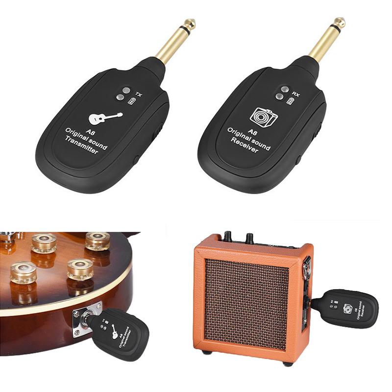 Bộ Truyền Âm Thanh Không Dây Với Bộ Thu Cho Đàn Guitar Bass