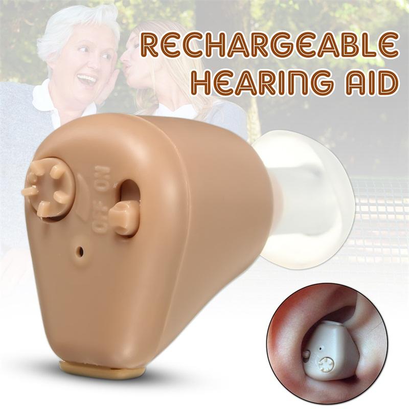 Rechargeable Digital Hearing Aid Sound Enhancement Amplifier