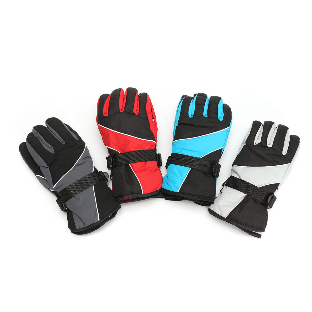 Pair Winter Motorcycle Bike Racing Skiing Skating Gloves Waterproof Windproof