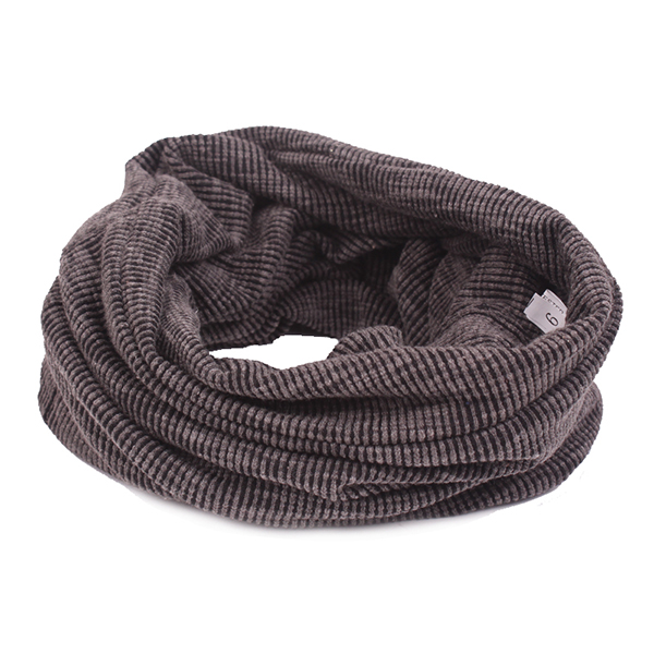 Men Dual Use Cotton Knitted Beanie Hat Casual Solid Color Autumn Scarf