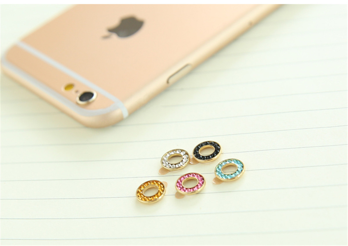 Crystal Back Camera Metal Lens Protective Ring Circle Cover For iPhone 6 Plus 6S Plus
