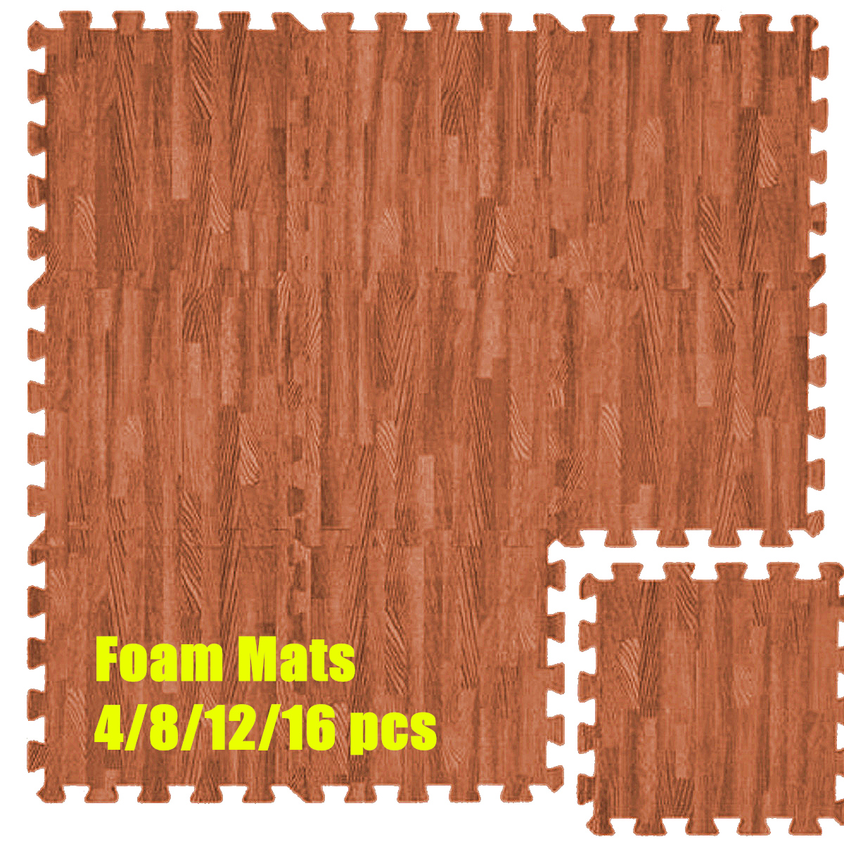 1Pcs 31x31cm EVA Foam Brown Easy Cleaning Imitation Wood Kids Play Floor Mats Baby Play Mat