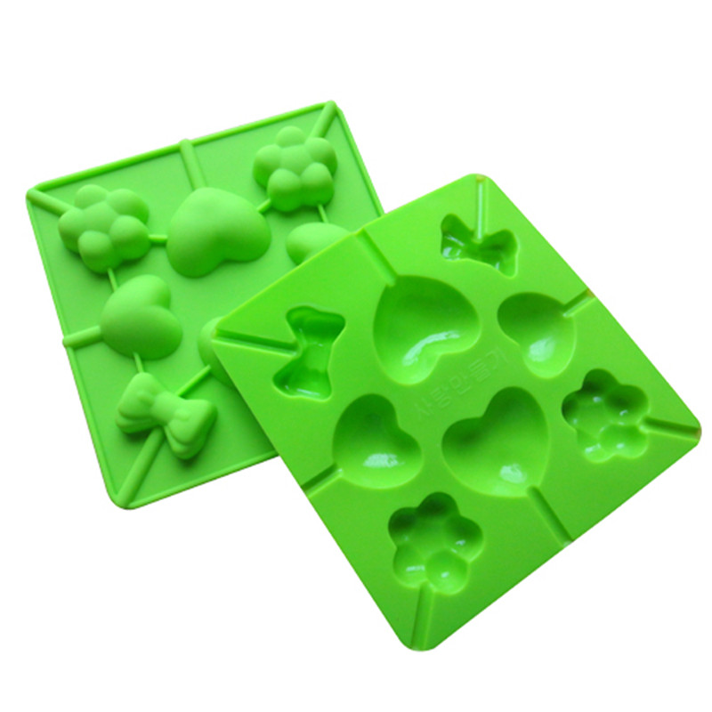 Silicone Lollipop Mold Cake Chocolate Mould DIY Ice Tray Mold Ice Cube Candy Pudding Baking Mold