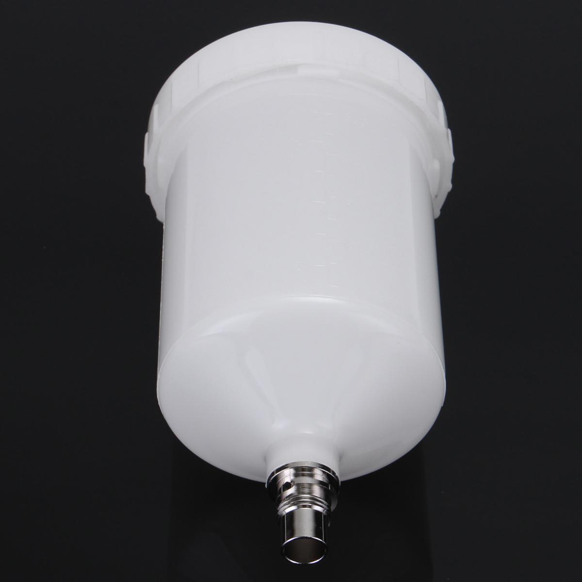 600mL Plastic Spray Gun Cup Pot White QCC Connector For SATAjet Replacement