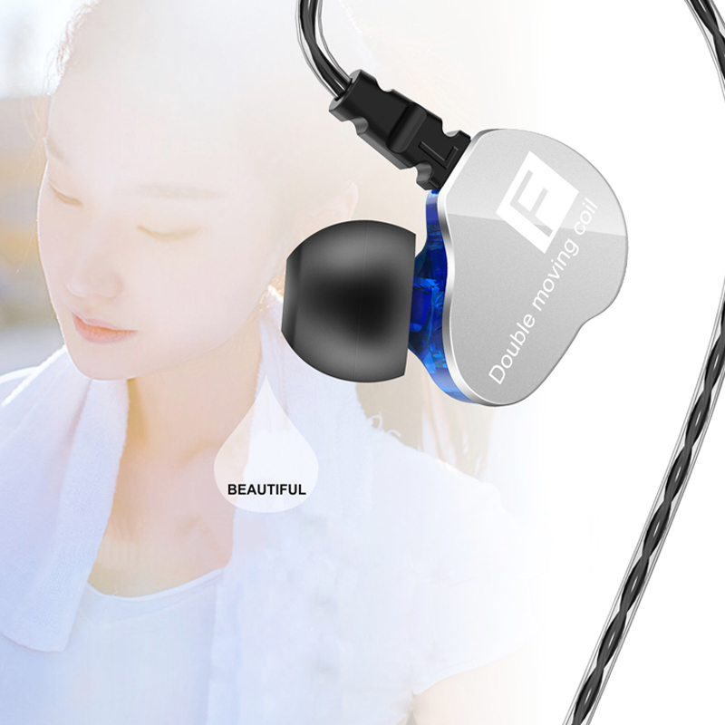 [Dual Dynamic Drivers] Fonge F4 Heavy Bass Earphone 3.5mm Wired Control Stereo Headphone with Mic