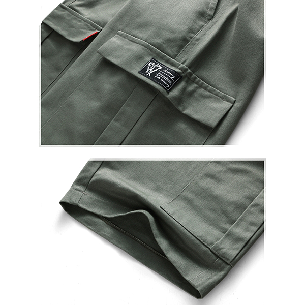 Men's Multi Pockets Knee-Length Cargo Shorts