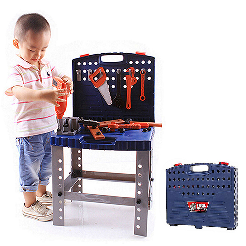 69Pcs Play House Engineer Tools Set Kids Repair Tools Box Pretend Play Toys