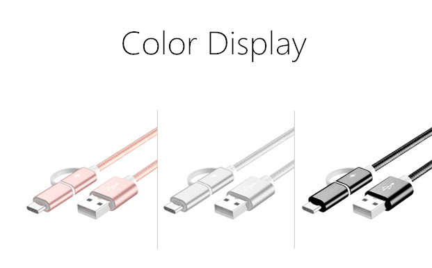 Bakeey 2 in 1 Type C Micro USB Nylon Braided Data Charging Cable USB 2.0 for Xiaomi 6 Oneplus S8 S7